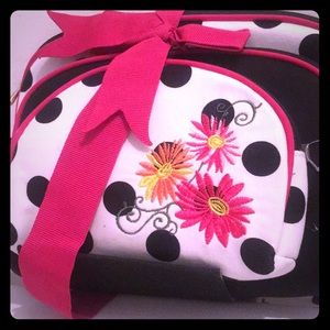 Handbags - Three piece dome cosmetic set